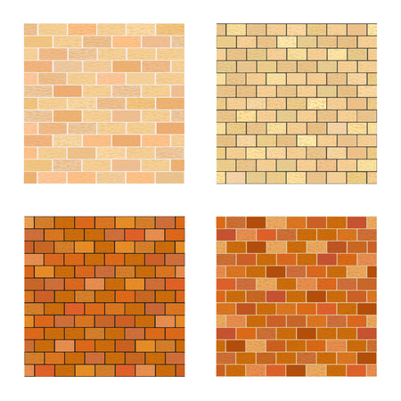 bricklaying: Set brick different color on white background