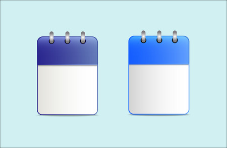 desk calendar: Icon of desk calendar blue color in two variants. The template can be used for any dates and holidays, as a reminder, etc.