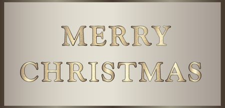 glisten: illustration Merry Christmas in golden-brown tones with glitter text. Can be used for congratulations, invitations, posters, greeting cards, web design etc. Horizontal .