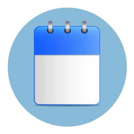 hoja en blanco: Hoja blanca en blanco del calendario en color azul Vectores
