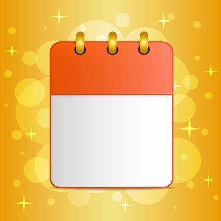 Blank sheet of calendar on festive colorful background