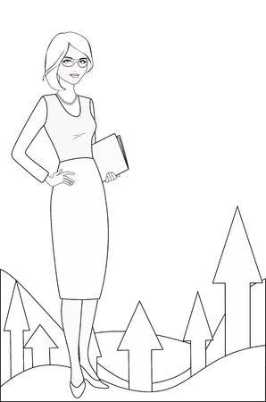 PR specialist in white-black variation Illustration