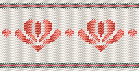 Knitted  texture on white background