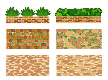 Set of elements for landscape design Illustration