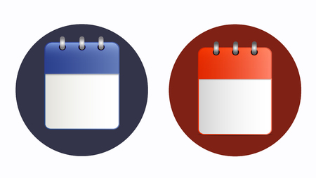 event planning: Blank sheet of calendar icon in two variants.