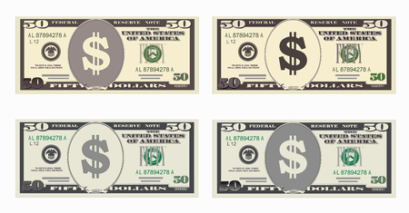 USA Bankwährung, Bargeld Symbol 50 Dollar Rechnung.