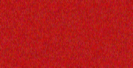 Bright knitted texture on red background. Ilustrace
