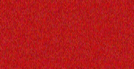 Heldere gebreide textuur op rode achtergrond.