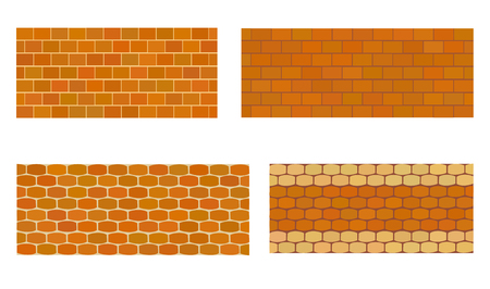 Various kinds of stone wall for garden.