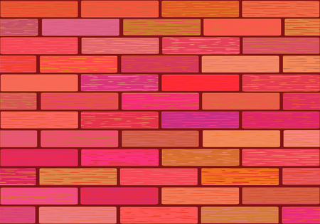 A wall of glazed tile in vivid colorful colors. Çizim