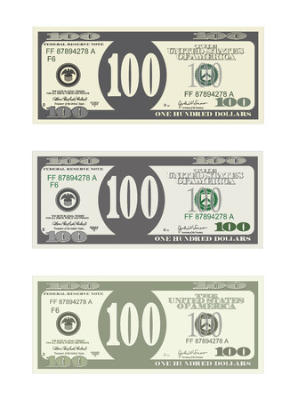 1203 one hundred dollar bill stock vector illustration and royalty design template 100 dollars banknote bill one hundred dollars in three options suitable for maxwellsz