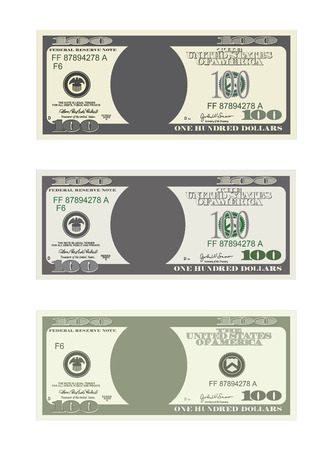 Design Template 100 Dollars Banknote. Bill One Hundred Dollars ...