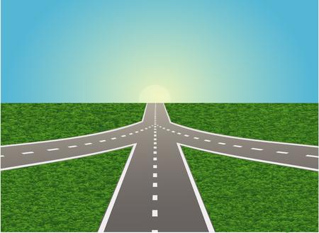 高速道路の交差点