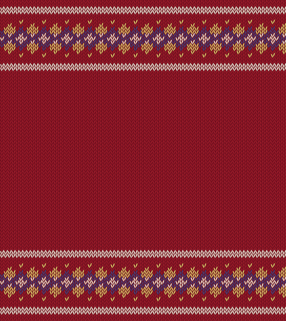 Knitted  texture on red, claret background with place for text.