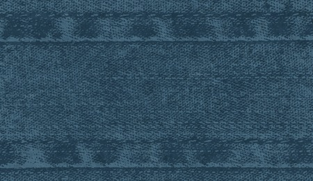 Vector background of denim fabric with seams. Blue dark jeans cloth. Old vintage backdrop with place for your text. Grunge texture in retro style. Horizontal orientation. Ilustração
