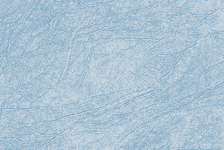 Colored skin texture, natural or faux leather background. Light blue leatherette, closeup.