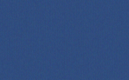 Wool melange yarn. Knitted texture, shade of blueness twilight. Easy serene color of Nebulas Blue. Vector seamless background. Modern, fashionable color. Perfect place for text. Woolen cloth. Foto de archivo - 113580865