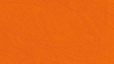 Colored skin texture, natural or faux leather background. Leatherette, closeup. Modern, fashionable shade of Russet Orange. Place for text. Vector backdrop. Orange color with reddish-brown tint.