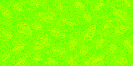 Flat vector with noise and texture. Tropical leaves Monstera on marble textured background. Bright, neon color of UFO Green. Modern, fashionable color. Seamless pattern, place for text.  イラスト・ベクター素材
