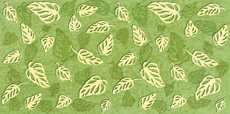 Tropical leaves Monstera on marble textured