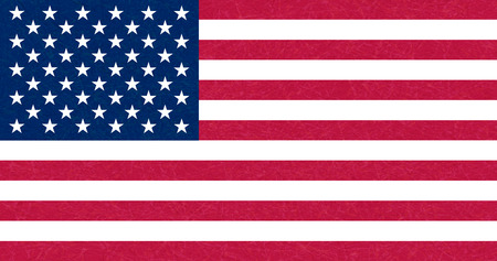 Grunge flag of USA. Isolated American banner with scratched texture, grunge Ilustrace