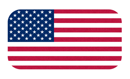 Grunge flag of USA. Isolated American banner with scratched texture, grunge. Ilustrace