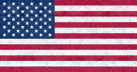 Grunge flag of USA. Isolated American banner with scratched texture on denim fabric. Фото со стока - 126018718
