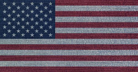 Grunge faded flag of USA. Rustic vintage style. Фото со стока - 129714849