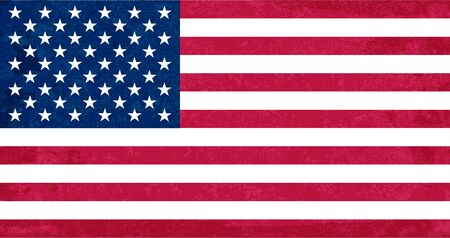 Grunge flag of USA. Isolated American banner with scratched texture. Иллюстрация
