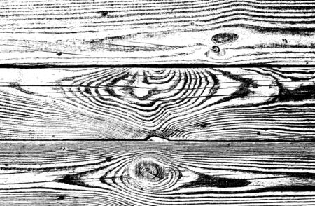 Background of wood boards. Wooden flooring, timbered floor, covering. Rustic backdrop of old panels. Black and white illustration of vintage wooden texture of fence. Natural pattern for wallpaper.