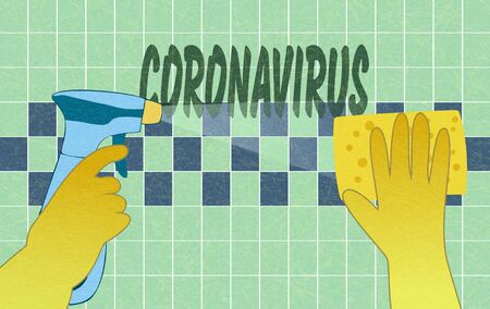 Disinfection of home from coronavirus, MERS-Cov.