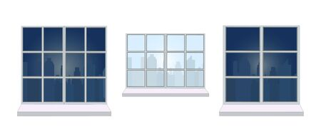 Collection of various window frames. 矢量图像