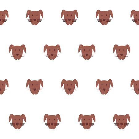 Patrón transparente simple con la mascota. Vector de perro.