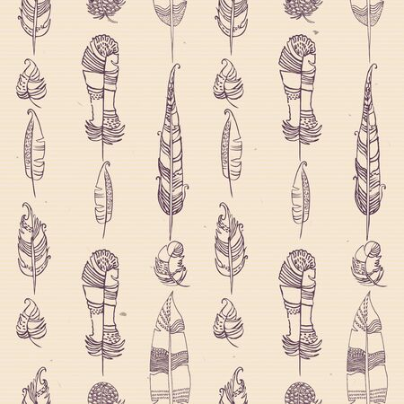 Shabby seamless pattern with stars. Sketch, doodle. Vector.