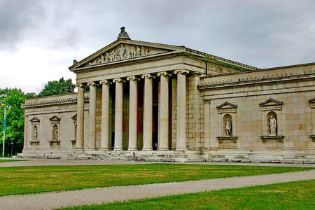 Munich. Building  - classical ionic  order of architecture
