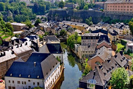 Old town of Luxembourg - birds eye view Idioms