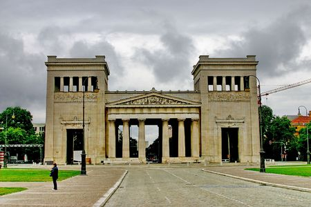 Munich. Building - classical doric order of architecture