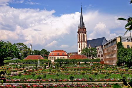 Darmstadt. The garden of  Prince George. Stock Photo
