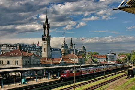 Germany. The railway station.