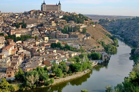 Mediaeval town Toledo and river Tahoe.