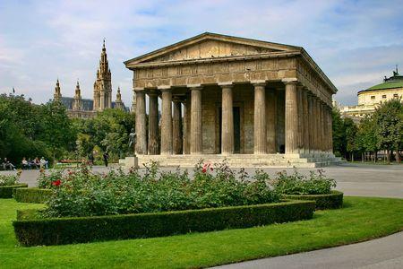 The temple of Theseus in Public park in Vienna.