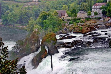 Switzerland - view of waterfall on Rhine Stock Photo