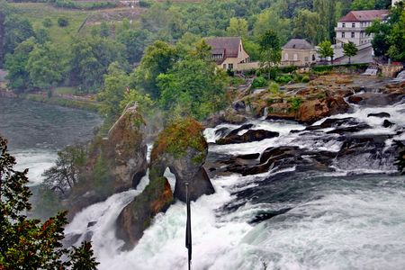 Switzerland - view of waterfall on Rhine Stock Photo