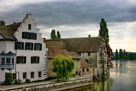 Switzerland. The little town on Rhine