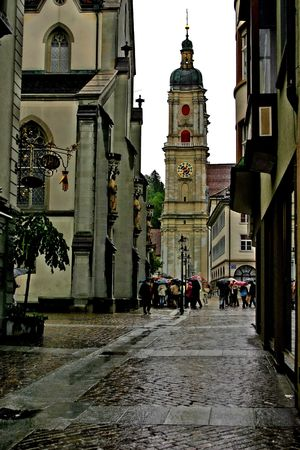 Switzerland. The  town Sankt Gallen. View on the abbey of St. Gallen Stock Photo