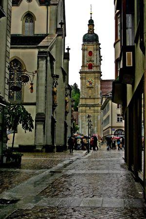 Switzerland. The  town Sankt Gallen. View on the abbey of St. Gallen Stock Photo