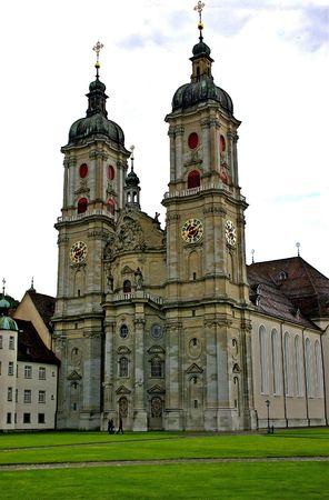 Switzerland. The abbey of St. Gallen in town Sankt Gallen. Stock Photo