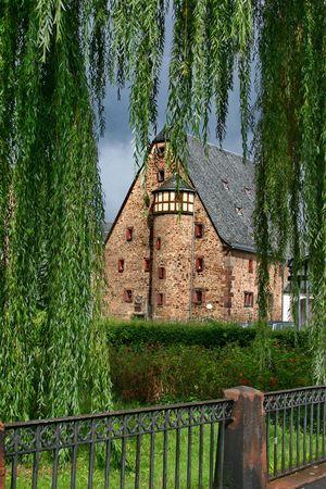 The courtyard of church St. Elizabeth in Marburg, Germany Stock Photo