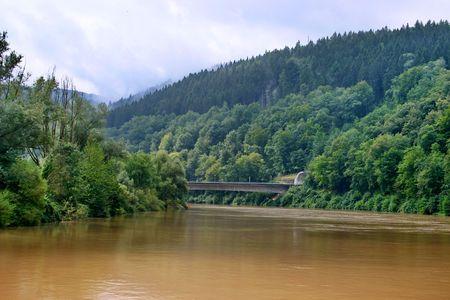 The river Neckar in Bavaria, Germany Stock Photo