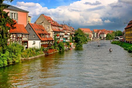 The festival at the Regnitz river Bamberg, Germany